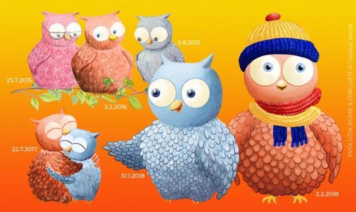 Buha & Owliver: evoluţia personajelor