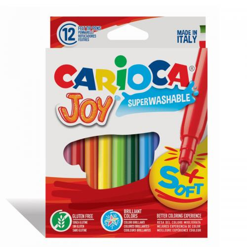Carioca Joy - set 12 carioci non-toxice, lavabile, scriere 2.6 mm