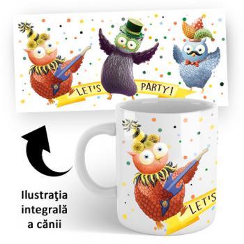 Cană din ceramică — Buha şi Owliver — accesoriu CD CARNAVAL