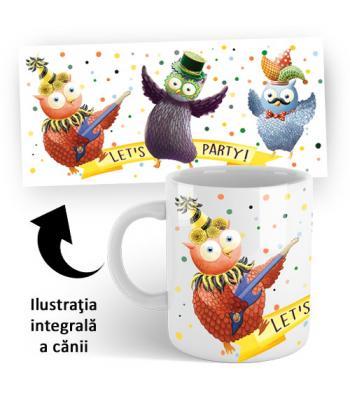 Cană ceramică Buha şi Owliver CARNAVAL (accesoriu pentru CD Carnaval)