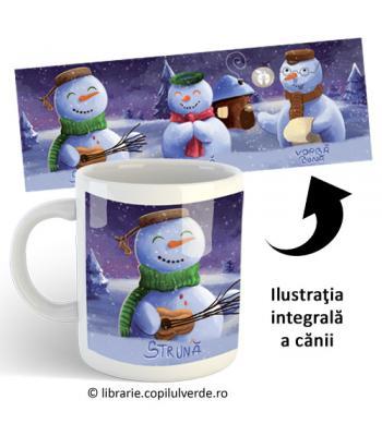 """Cană ceramică """"Surpriza Oamenilor de Zăpadă"""""""""""