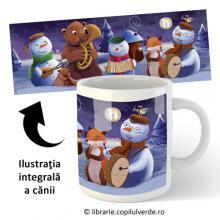 """Cană ceramică """"Concertul Oamenilor de Zăpadă"""""""