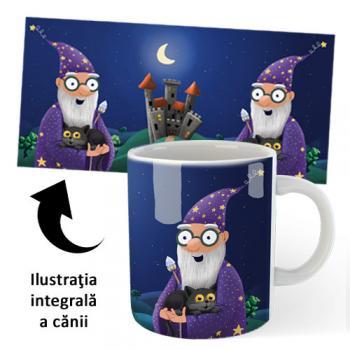 Cană din ceramică, pentru copii — Barbazuc şi Bagheru (accesoriu pentru cititori)