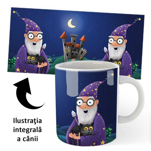 Cană din ceramică, pentru copii - Barbazuc şi Bagheru (accesoriu pentru cititori)