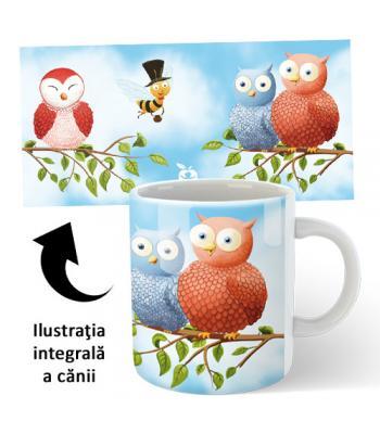 Cană ceramică Buha, Owliver şi Koko - accesoriu pentru cărţi şi CD cu Buha