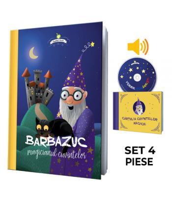 Barbazuc, magicianul cuvintelor - set 4 piese (carte, CD, cărţulie, sacoşă cadou)