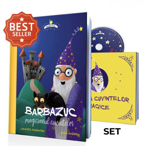 Barbazuc, magicianul cuvintelor - set 3 piese (cărţi şi audiobook)
