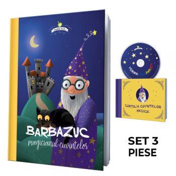 Barbazuc, magicianul cuvintelor - set 4 piese (carte, CD, cărţulie, sacoşă kraft)