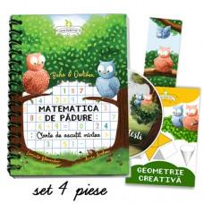 Set Matematica de pădure  - carte  + CD  + mapă  + semn de carte