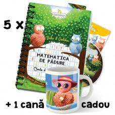 Pachet 5 seturi Matematica de pădure + 1 cană cadou