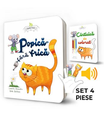 Popică fără frică - set (board book, carte de colorat, paper dolls, ghid audio mp3)