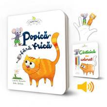 Popică fără frică - set 4 piese (board book, carte de colorat, paper dolls, audio mp3)