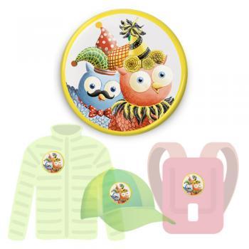 Insignă de colecţie - Buha şi Owliver (accesoriu pentru CD-ul Carnaval)