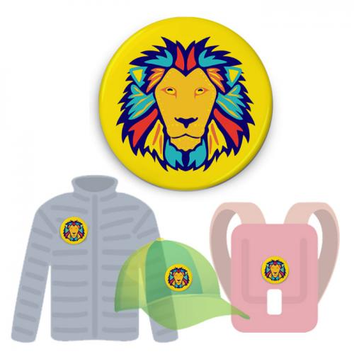 Insignă de colecţie - Lion 2 (colecţia Wild Doodles)