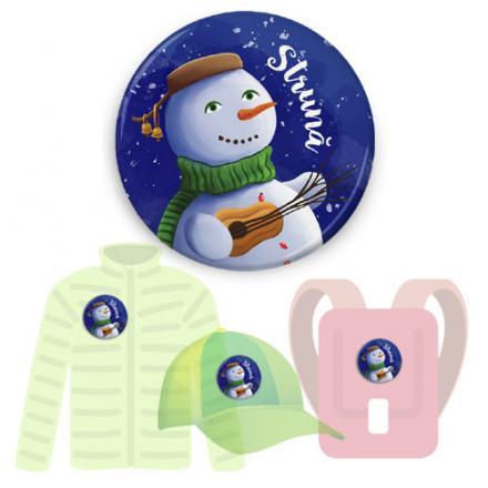 Insignă de colecţie - Strună (accesoriu pentru seria Cei trei Oameni de Zăpadă)