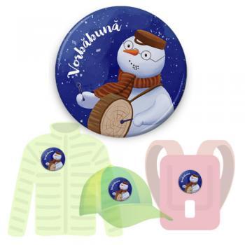 Insignă de colecţie - Vorbăbună (accesoriu pentru seria Cei trei Oameni de Zăpadă)
