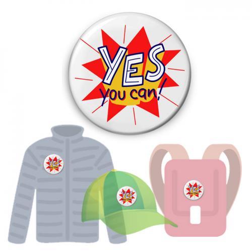 Insignă de colecţie - Yes You Can (accesoriu colecţia Growth Mindset)