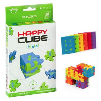 Happy Cube JUNIOR - set 6 puzzle-cuburi lavabile (3-7 ani)