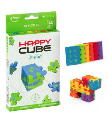 Happy Cube JUNIOR - set 6 puzzle-cuburi lavabile (3-7 ani)
