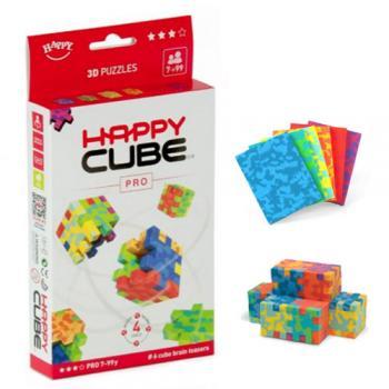Happy Cube PRO - set 6 puzzle-cuburi lavabile (7-99 ani) + app