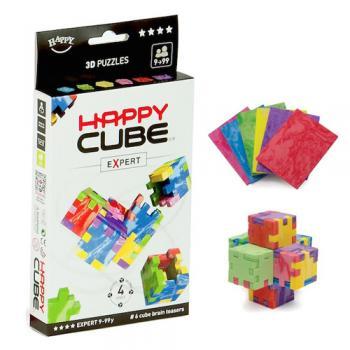 Happy Cube EXPERT - set 6 puzzle-cuburi lavabile (9-99 ani) + app