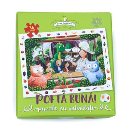 Puzzle Buha, Owliver şi Fintifliuşcă, cu activităţi (fructe şi legume)