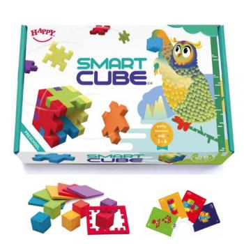 Smart Cube - set educativ cu 6 puzzle-cuburi 3D lavabile (3-6 ani)