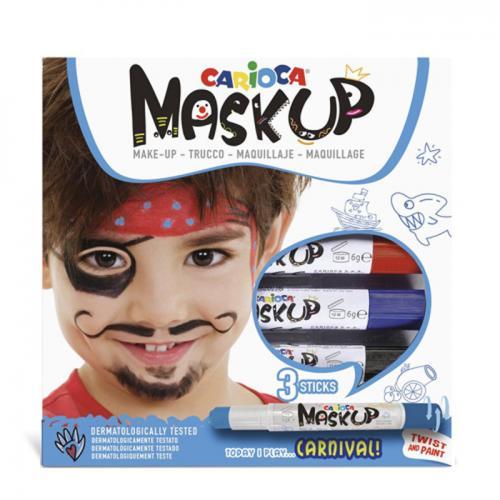 Carioca Mask-up Carnival — Set 3 culori pentru de machiaj (face painting)