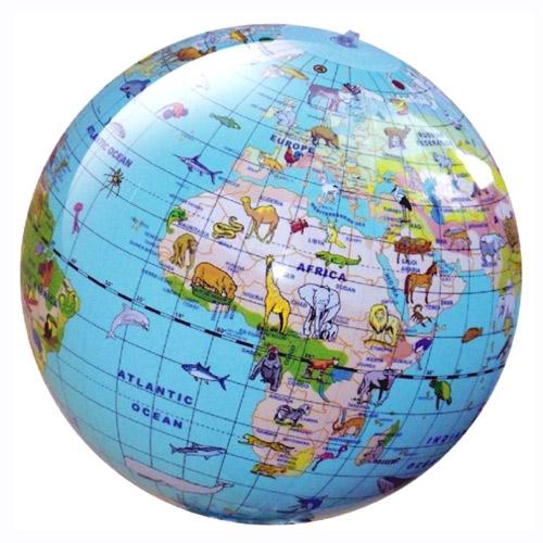 Glob pământesc gonflabil, cu  172 de animale şi idei de jocuri