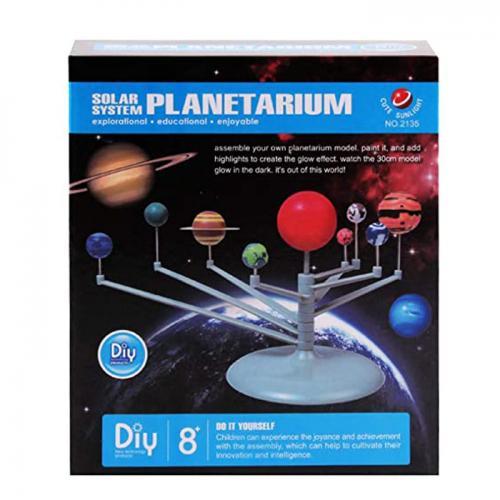 Planetariu creativ rotativ - Sistemul Solar - set de asamblat şi colorat
