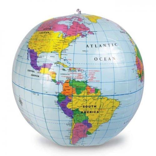 Glob pământesc gonflabil premium, cu kit de reparare, diametru 30 cm