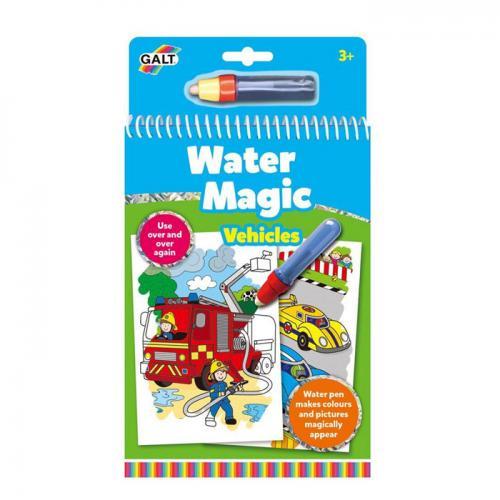 Set carte de colorat şi stilou pentru apă - Vehicule - Water Magic (Galt)