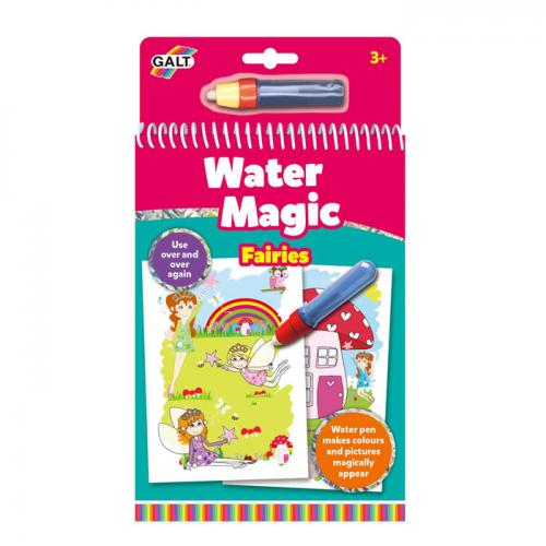 Carte de colorat cu apă - model Zâne (Water Magic, Galt)