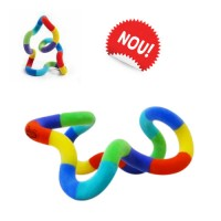 Tangle Fuzzies - jucărie senzorială catifelată, multicoloră