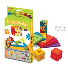 Little Genius - set 6 puzzle-cuburi lavabile (3-7 ani)
