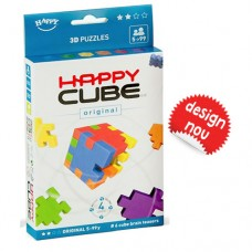 Happy Cube - set 6 puzzle-cuburi lavabile (5-99 ani) + app