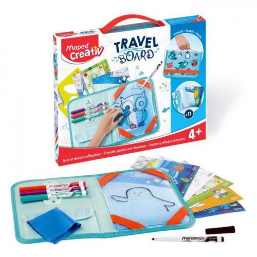 Travel Board - Joacă-te, desenează şi şterge - Animăluţe simpatice
