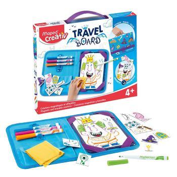 Magnetic Travel Board - Fixează, desenează şi şterge - Prinţi, zâne şi dragoni