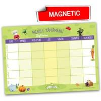 Meniul săptămânii - notes A4 magnetic, pentru frigider