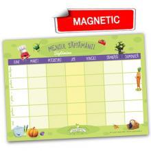 Meniul săptămânii - notes A4 color cu magnet, pentru frigider