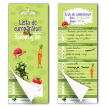 Lista de cumpărături (shopping list) - bloc notes magnetic