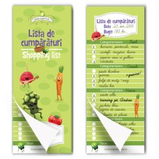 Lista de cumpărături (shopping list) - bloc notes magnetic