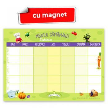 Meniul săptămânii - planner A4 color cu magnet, 52 file