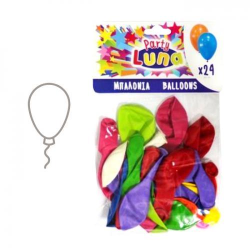 Set 24 baloane colorate, din latex natural, biodegradabile