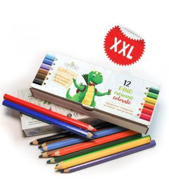 Creioane colorate ergonomice, în cutie autopersonalizabilă
