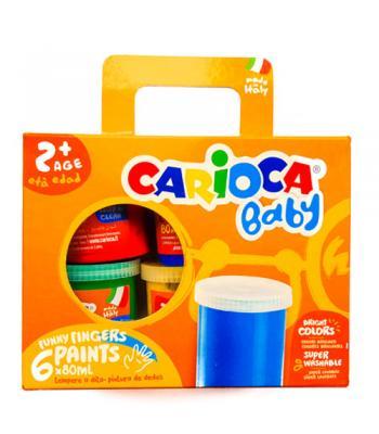 Tempera Finger Baby 2+ - Carioca - set pictură cu degeţelele