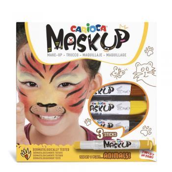 Carioca Mask-up Animals - Set 3 culori pentru machiaj (face painting)