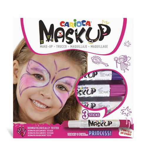 Carioca Mask-up Princess - Set 3 culori pentru de machiaj (face painting)