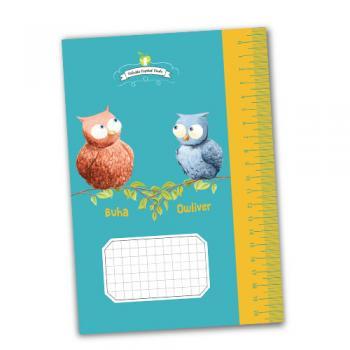 Caiet de aritmetică - Buha & Owliver - cadou pentru tine