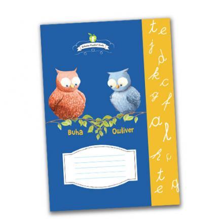 Caiet dictando - Buha şi Owliver - cadou pentru tine